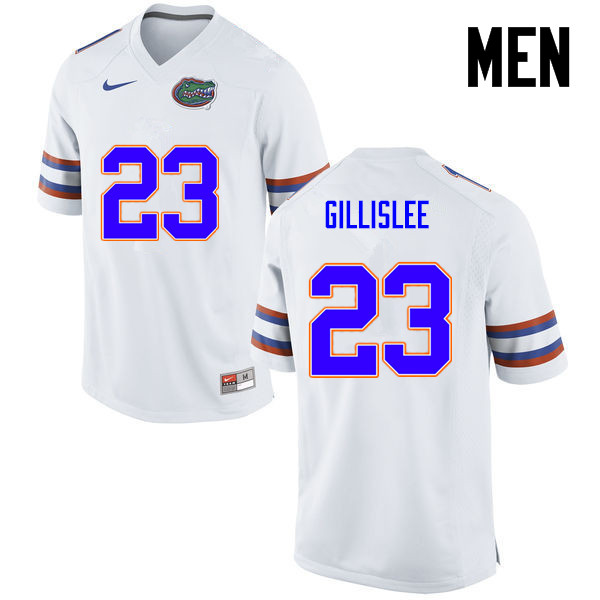 Men Florida Gators #23 Mike Gillislee College Football Jerseys-White