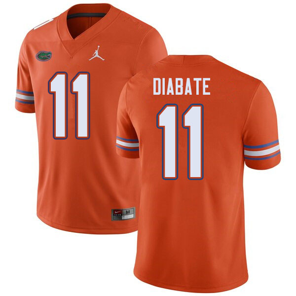 Jordan Brand Men #11 Mohamoud Diabate Florida Gators College Football Jerseys Sale-Orange