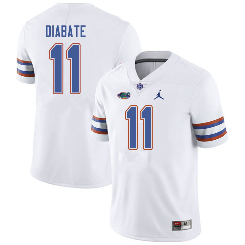 Jordan Brand Men #11 Mohamoud Diabate Florida Gators College Football Jerseys Sale-White