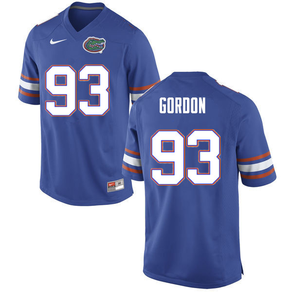 Men #93 Moses Gordon Florida Gators College Football Jerseys Sale-Blue