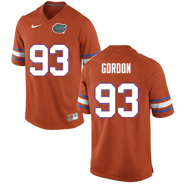 Men #93 Moses Gordon Florida Gators College Football Jerseys Sale-Orange