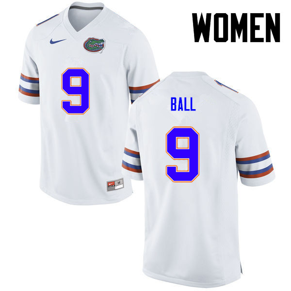 Women Florida Gators #11 Neiron Ball College Football Jerseys-White