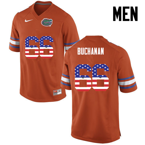 Men Florida Gators #66 Nick Buchanan College Football USA Flag Fashion Jerseys-Orange