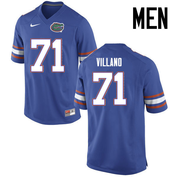 Men Florida Gators #71 Nick Villano College Football Jerseys Sale-Blue