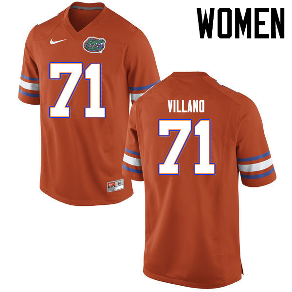 Women Florida Gators #71 Nick Villano College Football Jerseys Sale-Orange