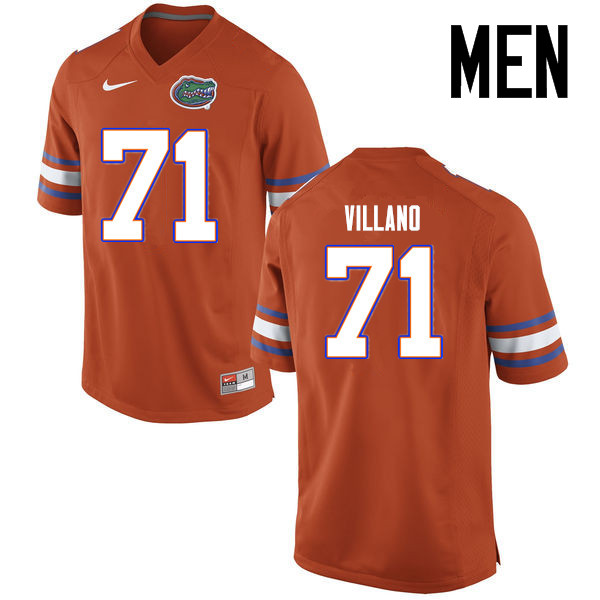Men Florida Gators #71 Nick Villano College Football Jerseys Sale-Orange