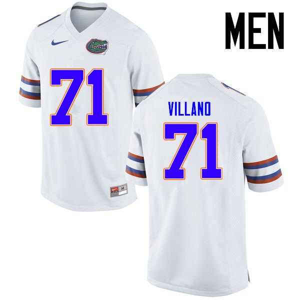 Men Florida Gators #71 Nick Villano College Football Jerseys Sale-White