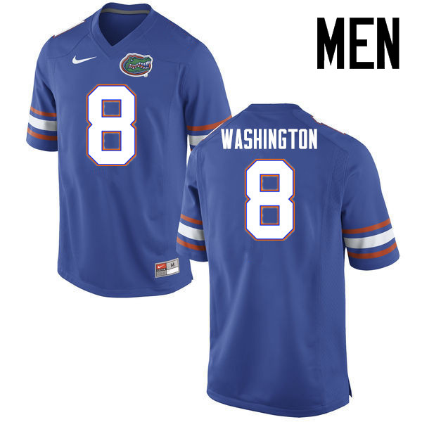 Men Florida Gators #8 Nick Washington College Football Jerseys Sale-Blue