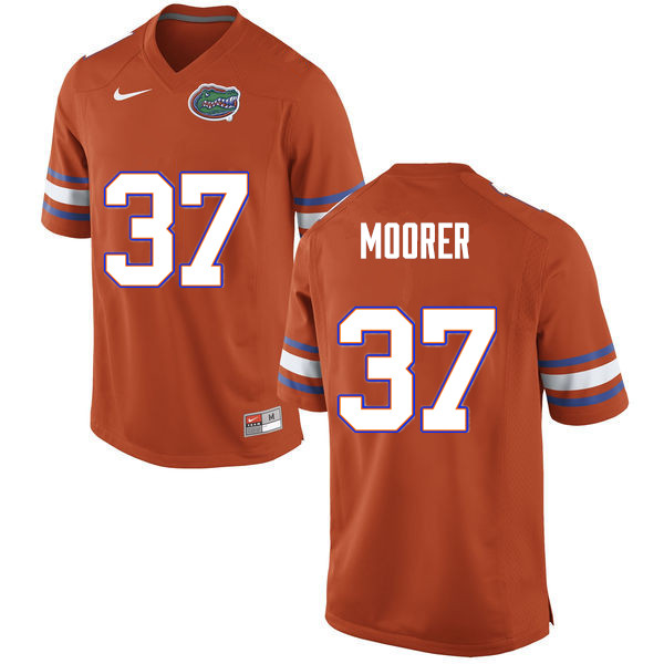 Men #37 Patrick Moorer Florida Gators College Football Jerseys Sale-Orange