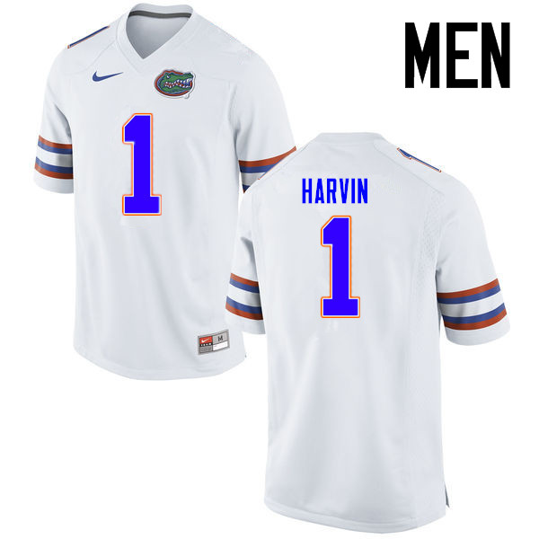 Men Florida Gators #1 Percy Harvin College Football Jerseys Sale-White