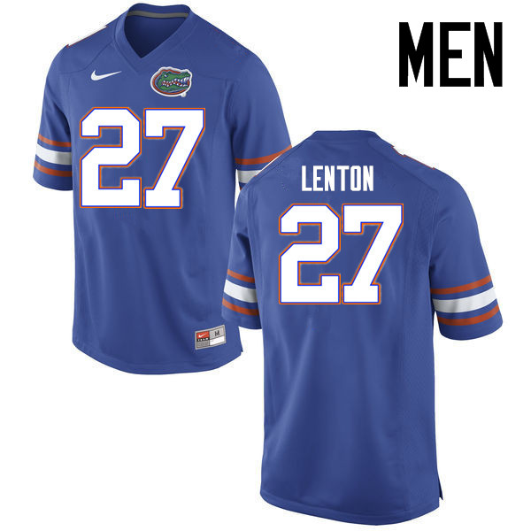 Men Florida Gators #27 Quincy Lenton College Football Jerseys Sale-Blue