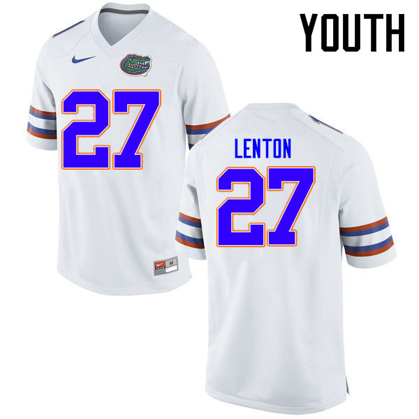 Youth Florida Gators #27 Quincy Lenton College Football Jerseys Sale-White