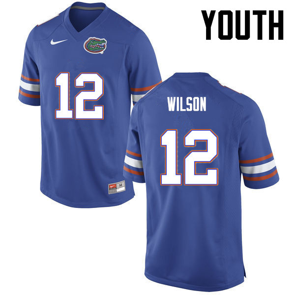 Youth Florida Gators #12 Quincy Wilson College Football Jerseys-Blue