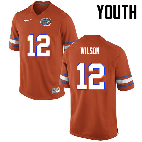 Youth Florida Gators #12 Quincy Wilson College Football Jerseys-Orange