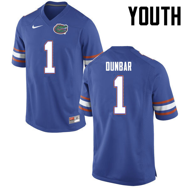 Youth Florida Gators #1 Quinton Dunbar College Football Jerseys-Blue