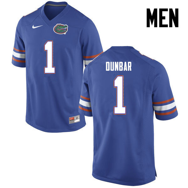 Men Florida Gators #1 Quinton Dunbar College Football Jerseys-Blue