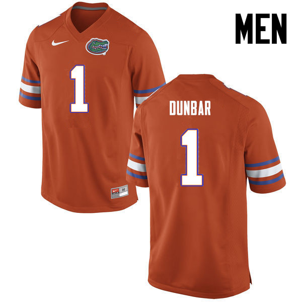 Men Florida Gators #1 Quinton Dunbar College Football Jerseys-Orange