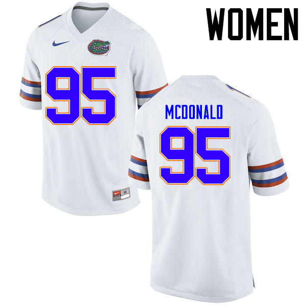 Women Florida Gators #95 Ray McDonald College Football Jerseys Sale-White