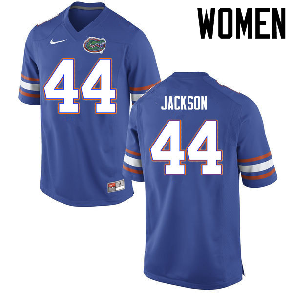 Women Florida Gators #44 Rayshad Jackson College Football Jerseys Sale-Blue