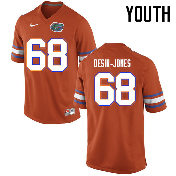 Youth Florida Gators #68 Richerd Desir-Jones College Football Jerseys Sale-Orange