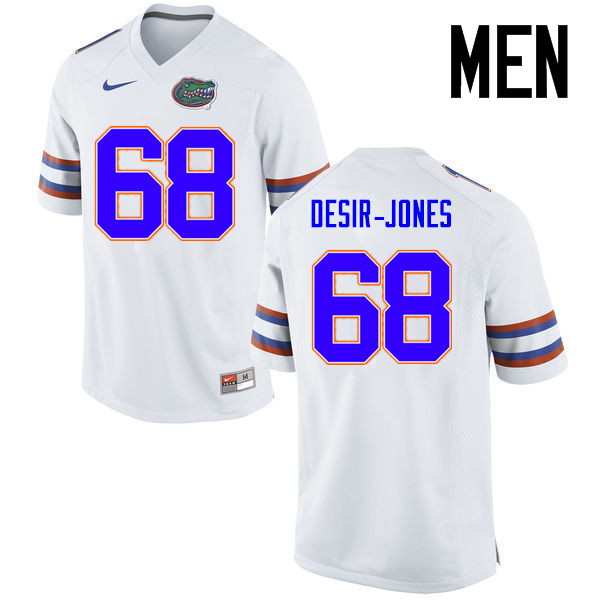 Men Florida Gators #68 Richerd Desir-Jones College Football Jerseys Sale-White