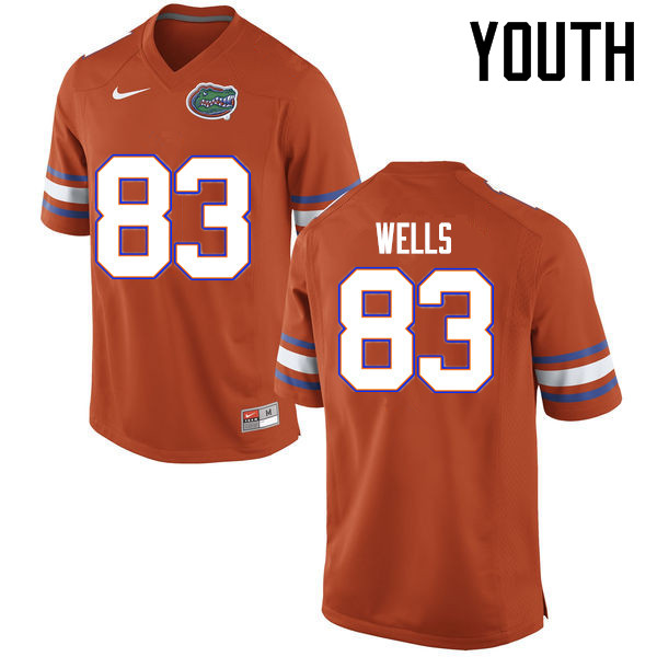 Youth Florida Gators #83 Rick Wells College Football Jerseys Sale-Orange