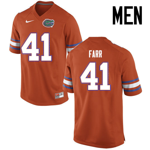 Men Florida Gators #41 Ryan Farr College Football Jerseys Sale-Orange