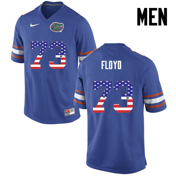 Men Florida Gators #73 Sharrif Floyd College Football USA Flag Fashion Jerseys-Blue