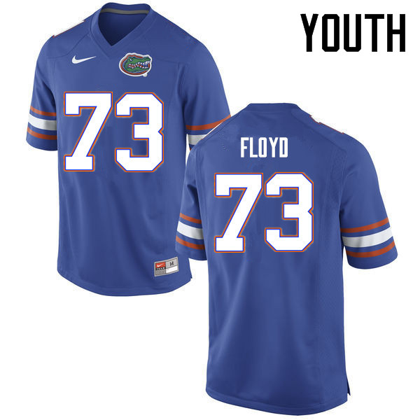 Youth Florida Gators #73 Sharrif Floyd College Football Jerseys Sale-Blue