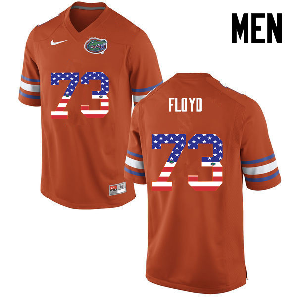 Men Florida Gators #73 Sharrif Floyd College Football USA Flag Fashion Jerseys-Orange