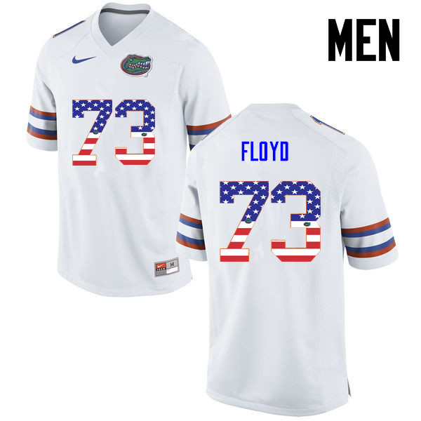 Men Florida Gators #73 Sharrif Floyd College Football USA Flag Fashion Jerseys-White