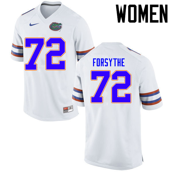 Women Florida Gators #72 Stone Forsythe College Football Jerseys Sale-White