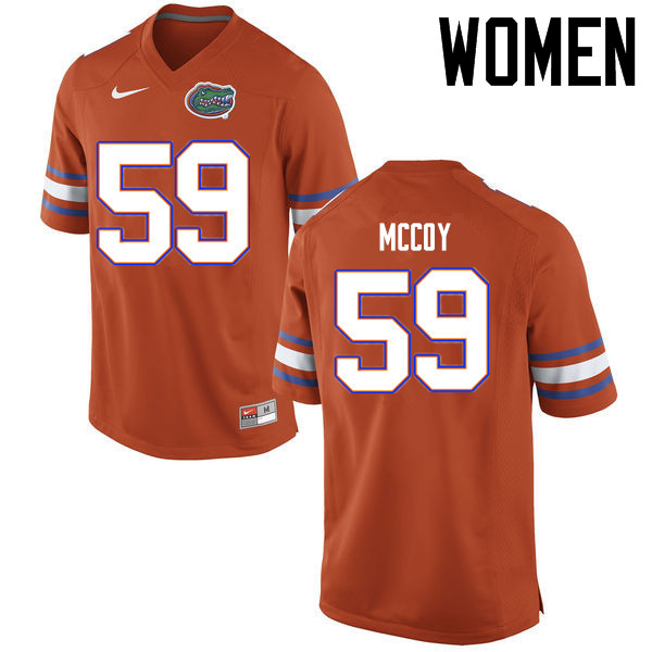 Women Florida Gators #59 T.J. McCoy College Football Jerseys Sale-Orange