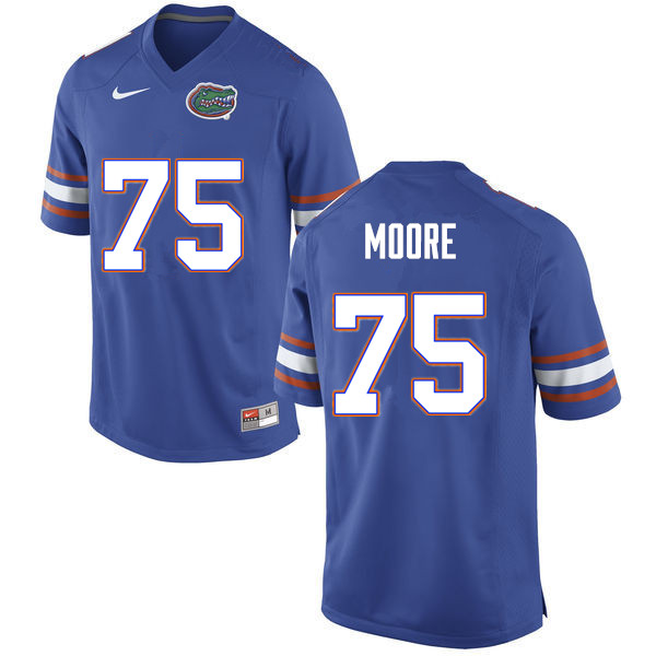 Men #75 T.J. Moore Florida Gators College Football Jerseys Sale-Blue