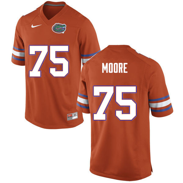 Men #75 T.J. Moore Florida Gators College Football Jerseys Sale-Orange