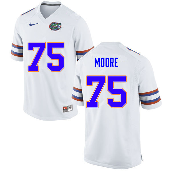 Men #75 T.J. Moore Florida Gators College Football Jerseys Sale-White