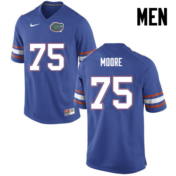 Men Florida Gators #75 TJ Moore College Football Jerseys-Blue