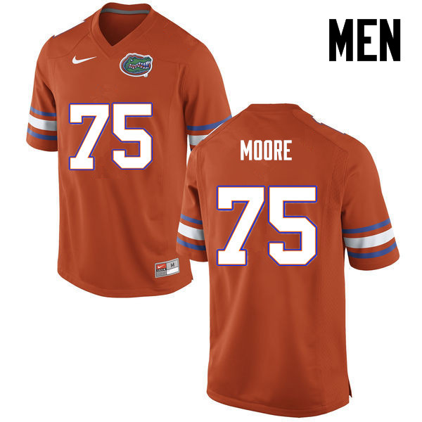Men Florida Gators #75 TJ Moore College Football Jerseys-Orange