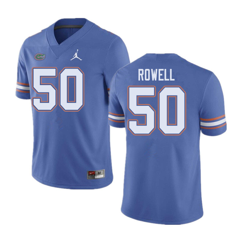 Jordan Brand Men #50 Tanner Rowell Florida Gators College Football Jerseys Sale-Blue