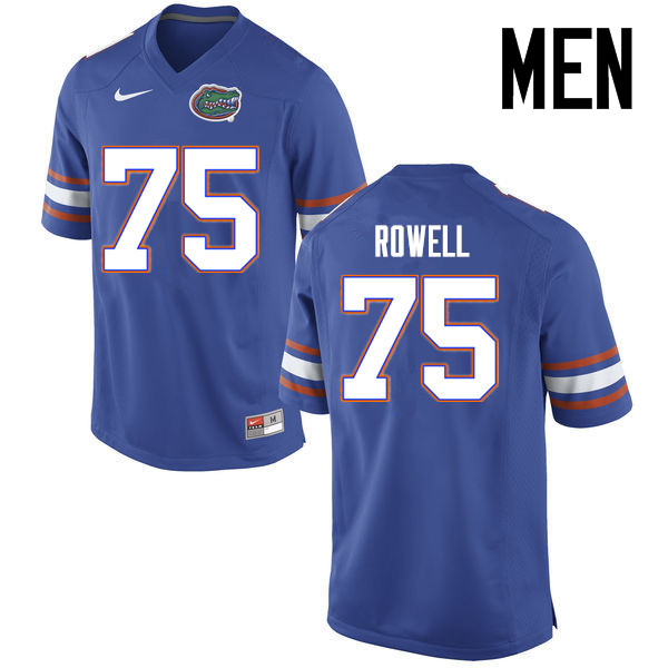 Men Florida Gators #75 Tanner Rowell College Football Jerseys Sale-Blue