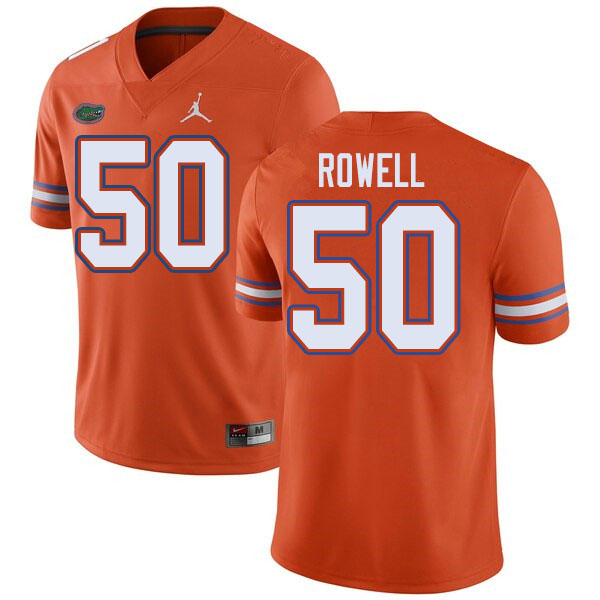 Jordan Brand Men #50 Tanner Rowell Florida Gators College Football Jerseys Sale-Orange