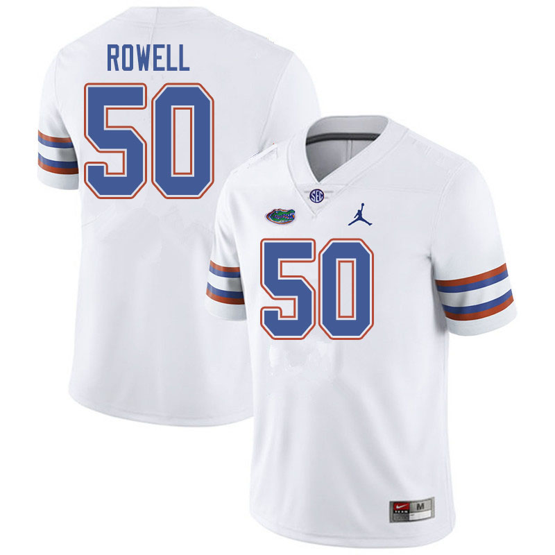 Jordan Brand Men #50 Tanner Rowell Florida Gators College Football Jerseys Sale-White