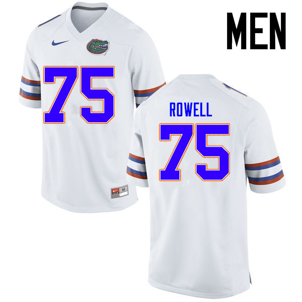 Men Florida Gators #75 Tanner Rowell College Football Jerseys Sale-White