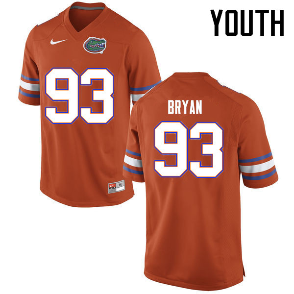 Youth Florida Gators #93 Taven Bryan College Football Jerseys Sale-Orange
