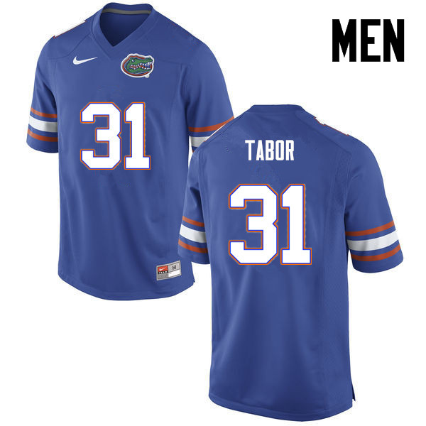 Men Florida Gators #31 Teez Tabor College Football Jerseys-Blue