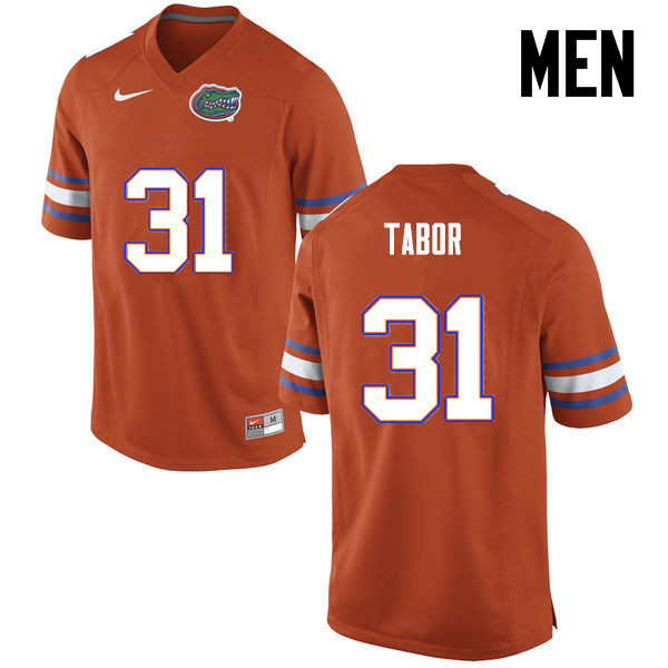 Men Florida Gators #31 Teez Tabor College Football Jerseys-Orange