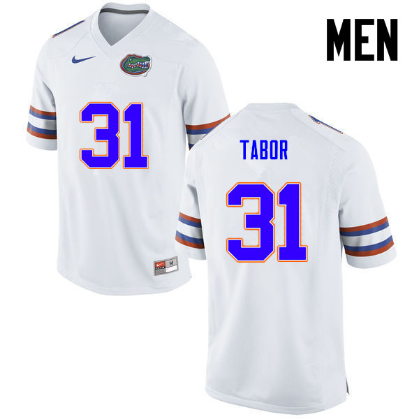 Men Florida Gators #31 Teez Tabor College Football Jerseys-White