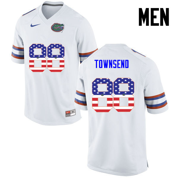 Men Florida Gators #88 Tommy Townsend College Football USA Flag Fashion Jerseys-White