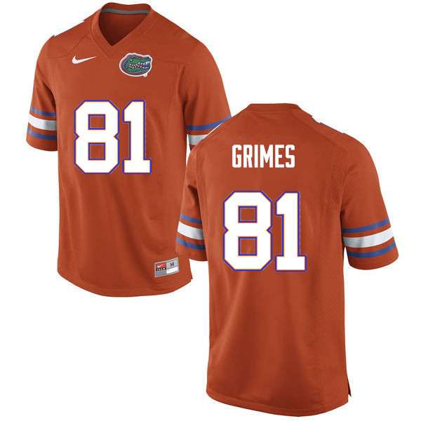 Men #81 Trevon Grimes Florida Gators College Football Jerseys Sale-Orange