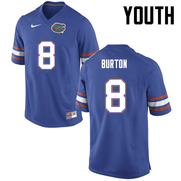 Youth Florida Gators #8 Trey Burton College Football Jerseys-Blue